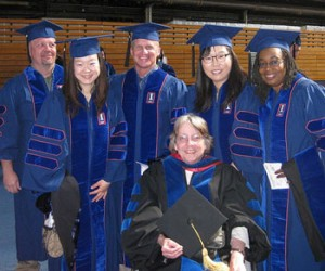 Dr. Noffke with students in May 2012